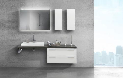 Badmöbel mit modernem Waschbecken und Design Lichtspiegel Luxor