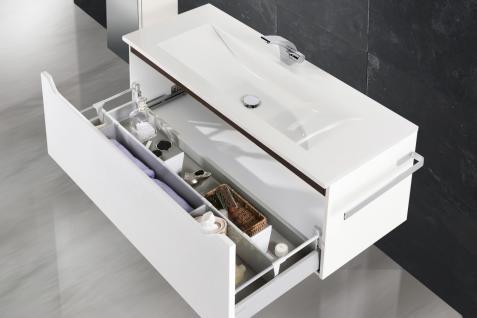 BadmÖbel Set Monza BadezimmermÖbel Ebenholz Design Badset Mit 120 Waschtisch - Vorschau 5