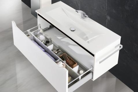 BadmÖbel Set Monza BadezimmermÖbel Design Badset Inkl. 120er Waschtisch Neu - Vorschau 3