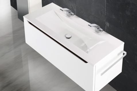 BadmÖbel Set Monza Design BadezimmermÖbel Badset Mit Doppelwaschtisch 120 Cm - Vorschau 3