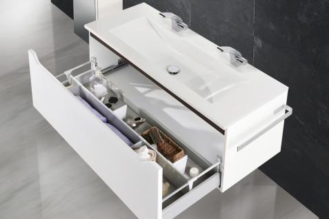 BadmÖbel Set Monza Design BadezimmermÖbel Badset Incl. Doppelwaschtisch 120cm - Vorschau 3