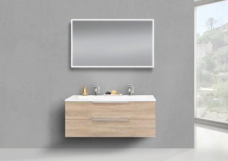 Intarbad CUBO Design Badmöbel Set 120 cm Doppelwaschtisch