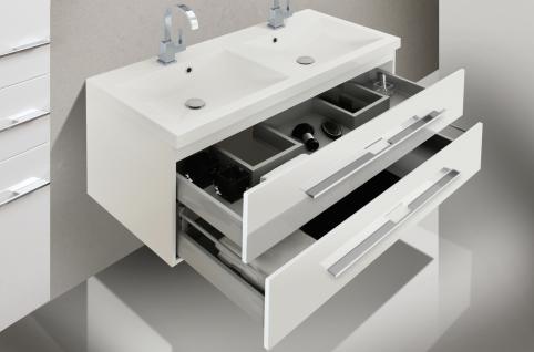 Badset Design BadezimmermÖbel Badezimmer Waschbecken Spiegelschrank 120 - Vorschau 4
