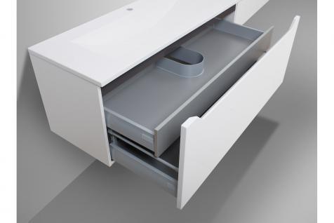 BadmÖbel Set Monza Design BadezimmermÖbel Badset Incl. Doppelwaschtisch 120cm - Vorschau 5