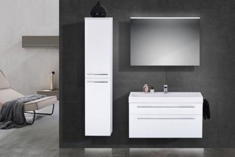 Design Hochschrank Bad Badmöbel Maße: H/B/T 160/35/33 cm, komplett vormontiert - Vorschau 3