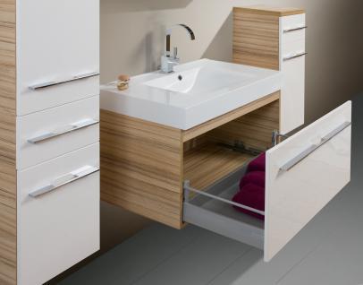 BadmÖbel Set Design BadezimmermÖbel Badset Mit Spiegelschrank + Waschbecken Neu - Vorschau 4