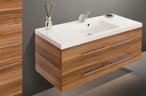 BadmÖbel Set Komplett Badset BadezimmermÖbel Waschbecken Waschtisch 120 Neu - Vorschau 3