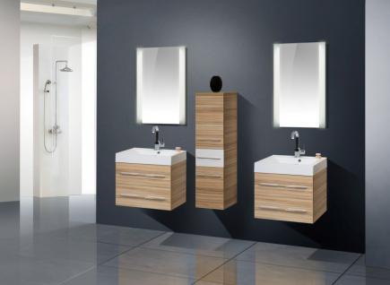 BadmÖbel Set Design BadezimmermÖbel Badset Inkl. 2 Waschtisch + 2 Lichtspiegel - Vorschau 1