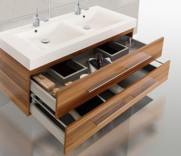 BadmÖbel Set BadezimmermÖbel Design Badset 120 Cm Doppelwaschtisch Lichtspiegel - Vorschau 4