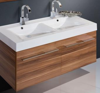 BadmÖbel Set Komplett BadezimmermÖbel Design Badset 120 Cm Doppelwaschtisch - Vorschau 4