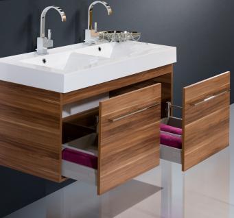 BadmÖbel Set Komplett BadezimmermÖbel Design Badset 120 Cm Doppelwaschtisch - Vorschau 3