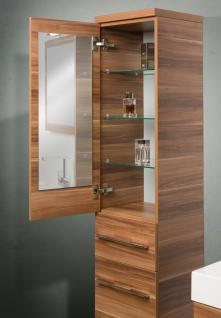 BadmÖbel Set Komplett Badezimmer Design Badset Glas - Doppelwaschtisch 120 Cm - Vorschau 3
