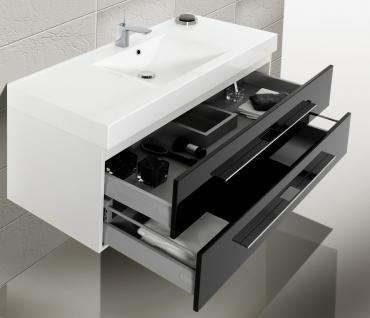 BadmÖbel Set Badezimmer Design BadezimmermÖbel Badset Mit 120 Cm Lichtspiegel - Vorschau 4