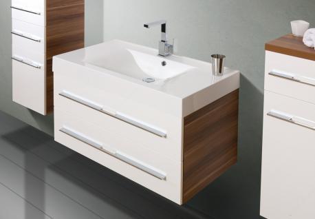 BadmÖbel Set Komplett Design BadezimmermÖbel Lichtspiegel & Hochglanz Lack Neu - Vorschau 3