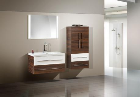 BadmÖbel Set BadezimmermÖbel Design Waschbecken + Lichtspiegel 90 Cm Neu - Vorschau 1