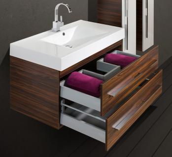 BadmÖbel Set Komplett Badset Design BadezimmermÖbel 90 Waschtisch Lichtspiegel - Vorschau 3