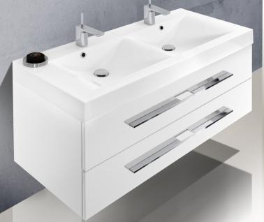 BadmÖbel Set Design Badezimmer-mÖbel Komplett Badset Doppelwaschtisch 120 Cm - Vorschau 3
