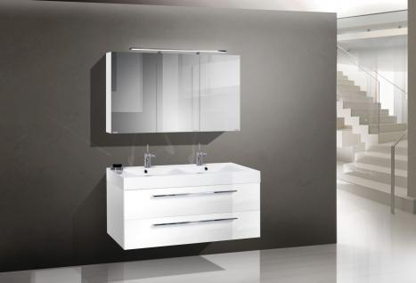 BadmÖbelset BadezimmermÖbel Komplett Design Badset Inklusiv 120 Doppelwaschtisch - Vorschau 1