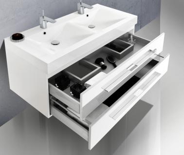 BadmÖbelset BadezimmermÖbel Komplett Design Badset Inklusiv 120 Doppelwaschtisch - Vorschau 4