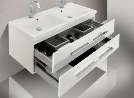 BadmÖbel Set BadezimmermÖbel Badset Mit Doppelwaschtisch & Spiegelschrank - Vorschau 4