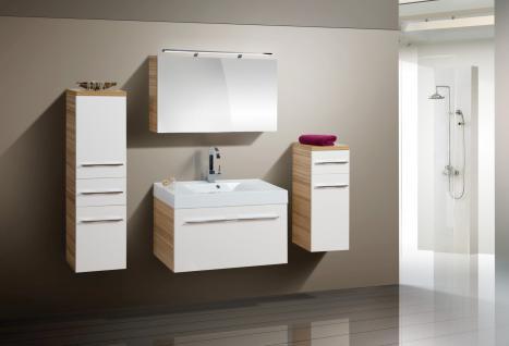 BadmÖbel Set Design BadezimmermÖbel Badset Mit Spiegelschrank + Waschbecken Neu - Vorschau 1