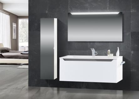 Badset Monza Badezimmermobel Design Mit 120 Cm Waschtisch Grau