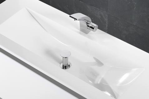 Badset Monza BadezimmermÖbel Design + 120 Cm Waschtisch Graue Griffleiste Neu - Vorschau 5