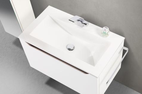BadmÖbel Set Monza BadezimmermÖbel Design Badset 80 Cm Ebenholz Griffleiste - Vorschau 3
