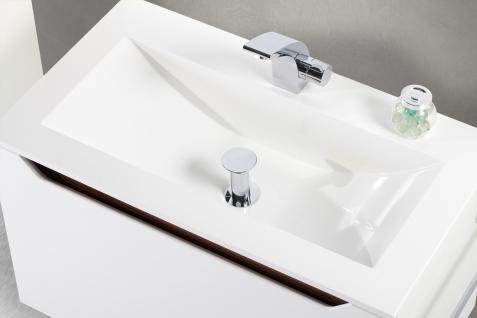 BadmÖbel Set Monza BadezimmermÖbel Design Badset 80 Cm Ebenholz Griffleiste - Vorschau 4