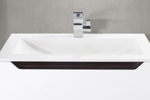 BadmÖbel Set Monza BadezimmermÖbel Design Badset 80 Cm Ebenholz Griffleiste - Vorschau 5