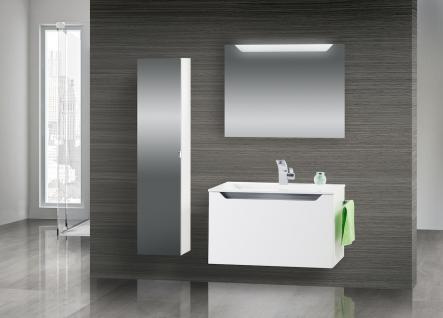 Badmobel Set Monza Badezimmermobel Design Mit 80 Cm Waschtisch Grau