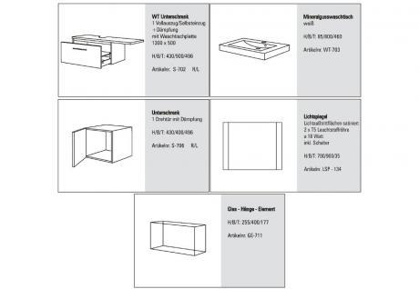 BadmÖbel Set Cremona BadezimmermÖbel Badezimmer Design Badset Waschtisch 80 - Vorschau 2