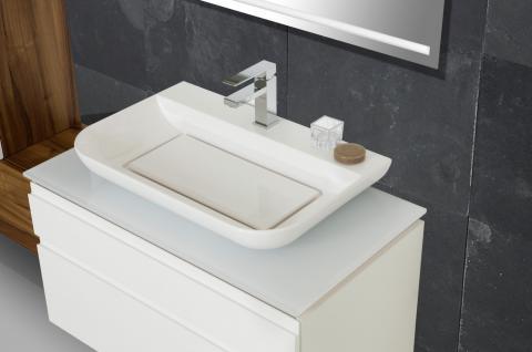 BadmÖbel Set BadezimmermÖbel Design Badset Mit Lichtspiegel + Waschtisch - Vorschau 3