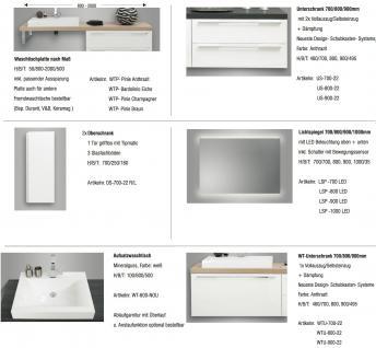 BadmÖbel Set Design BadezimmermÖbel Komplett Bad Inkl. Maß- Waschtischplatte Neu - Vorschau 2