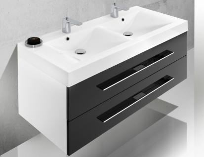 BadmÖbel Set BadezimmermÖbel Design Badezimmer Badset + Doppelwaschtisch 120 Cm - Vorschau 3
