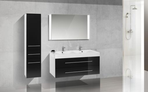 BadmÖbel Set BadezimmermÖbel Design Badezimmer Badset + Doppelwaschtisch 120 Cm - Vorschau 1