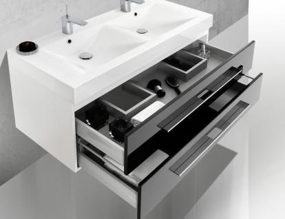 BadmÖbel Set BadezimmermÖbel Design Badezimmer Badset + Doppelwaschtisch 120 Cm - Vorschau 4