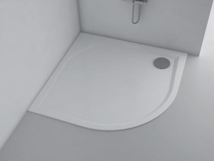 Duschwanne 100 x 100 cm ANDRIA Mineralguss flach Duschtasse bodengleich - Vorschau 1