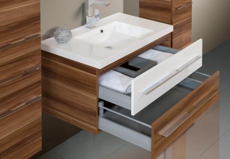 BadmÖbel Set Badset Design Badezimmer Inkl. 90 Cm Waschtisch + Lichtspiegel Neu - Vorschau 4
