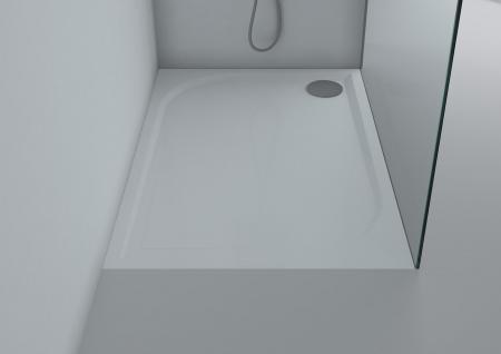 duschwanne 120x80 cm andria mineralguss flach duschtasse. Black Bedroom Furniture Sets. Home Design Ideas