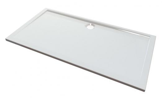 Duschwanne 160 x 80 cm MESSINA Mineralguss flach Duschtasse bodengleich - Vorschau 2