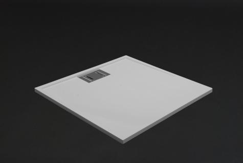 Duschwanne 120x80 cm NOVARA Mineralguss flach Duschtasse bodengleich inkl. Füße - Vorschau 2