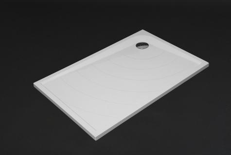 duschwanne 120x80 cm flach siena mineralguss duschtasse bodengleich inkl f e kaufen bei. Black Bedroom Furniture Sets. Home Design Ideas