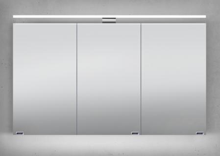 Spiegelschrank 120 cm LED Beleuchtung doppelseitig verspiegelt ...