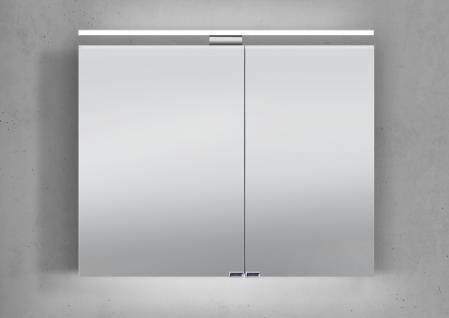 Spiegelschrank 90 cm LED Beleuchtung doppelseitig verspiegelt - Vorschau 1