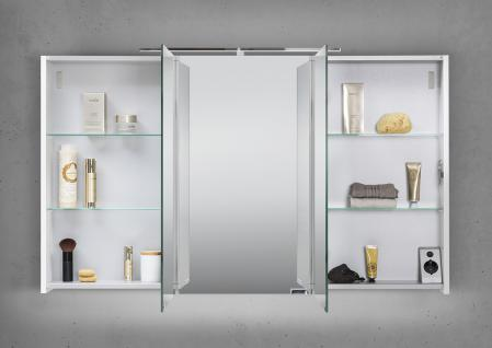 Spiegelschrank Bad 120 cm LED Beleuchtung mit Farbwechsel doppelt ...