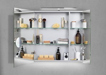 Spiegelschrank Bad 60 cm LED Beleuchtung doppelt verspiegelt - Vorschau 2