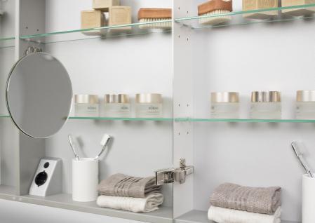 Spiegelschrank Bad 80 cm LED Beleuchtung doppelt verspiegelt - Vorschau 4