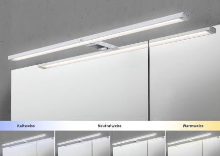 Spiegelschrank Bad 90 cm LED Beleuchtung mit Farbwechsel doppelseitig verspiegelt - Vorschau 3
