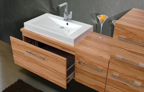 BadmÖbel Set Cremona BadezimmermÖbel Badezimmer Badset Mit Waschtisch 80 Cm - Vorschau 3